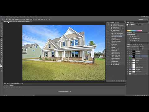 How To Edit Real Estate Photos with Green Grass in Photoshop and Photoshop Elements