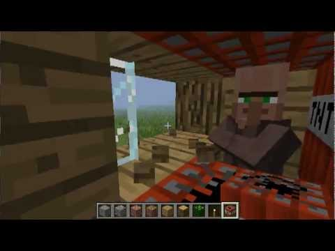 Minecraft - Blowing Up a NPC Village With LAVA!