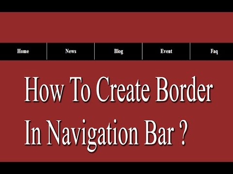 How to create navigation bar with border ?