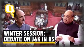 Winter Session: Amit Shah Takes Questions on J&K in Rajya Sabha