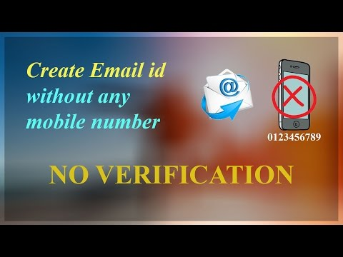 Create Email id without mobile number | No verification