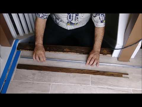 How To Install A Threshold  For Tile To Hardwood Transition-   Step By Step