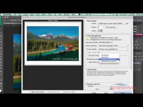 Using printer color profiles Photoshop CC CS6 Epson Mac
