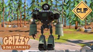 Un robot s'amuse avec les Lemmings ! - Grizzy & les Lemmings