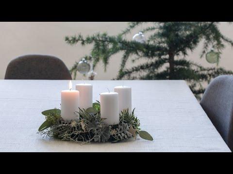 DIY: Advent wreath by Søstrene Grene