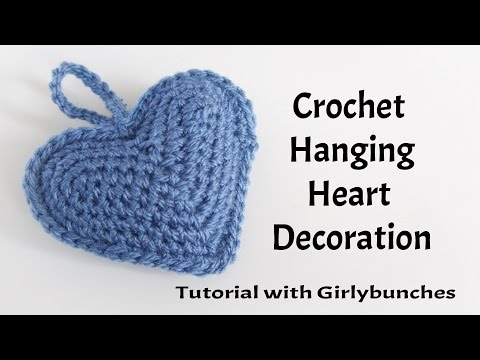 Hanging Heart Crochet Decoration - Tutorial | Girlybunches