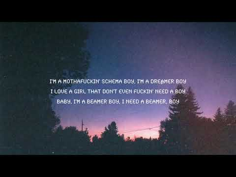 Lil Peep - Beamer Boy ( Lyric Video )