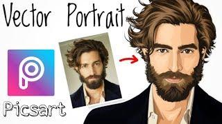 Picsart tutorial    Vector portrait    portrait image editing