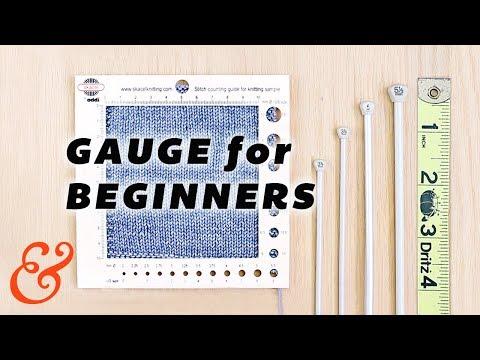 KNITTING GAUGE for Total Beginners