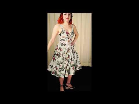 Tahiti 50s Tropical Swing Dress