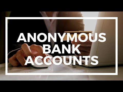 Do anonymous and numbered offshore bank accounts exist?