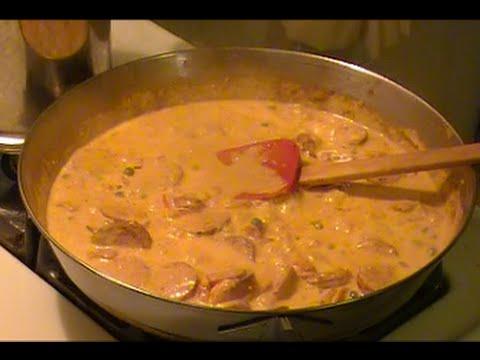 Spicy Sausage Alfredo Recipe !