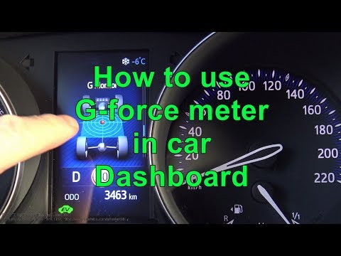 How to use G-force meter in car dashboard