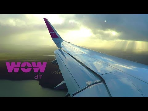 MAGICAL ICELAND! WOW Air Airbus A321SL - Approach and Landing at Keflavik Airport (KEF), Iceland!