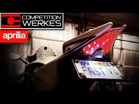 How to Install COMPETITION WERKES Integrated Tail Light  - RSV4