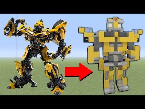 Minecraft Tutorial: How To Make BumbleBee In Minecraft (Robot)