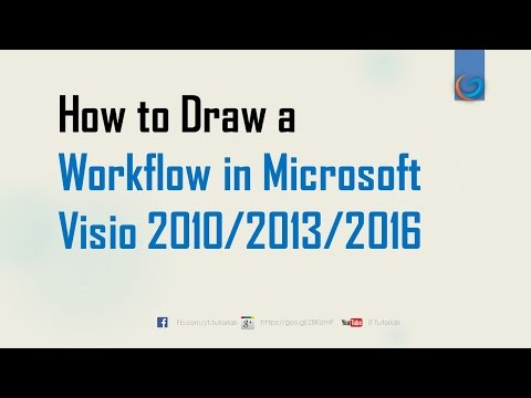 How to Draw a Workflow in Microsoft Visio 2010/2013/2016