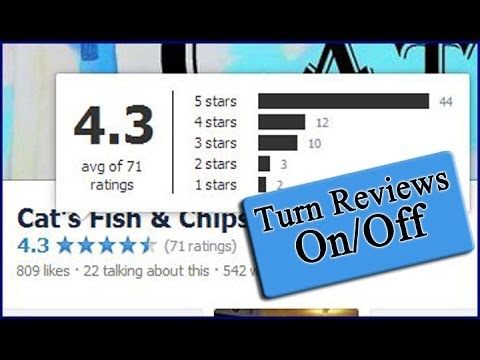 How To Remove/Add Facebook Star Ratings & Reviews On Business Page