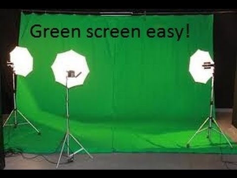 How to-Green screen easily and for free!