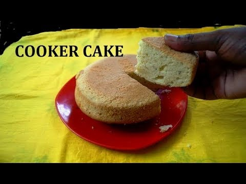 How to make Sponge Cake in Pressure Cooker   Cake without Oven by Attamma TV