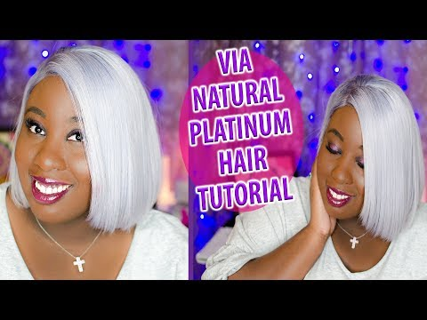 VIA NATURAL PLATINUM HAIR TUTORIAL