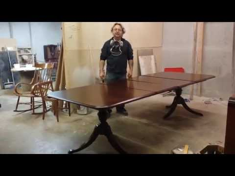 refinishing a thomasville cherry dining table  at  timeless arts refinishing