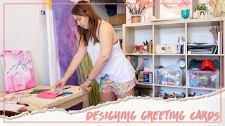 Designing New Greeting Cards + Work Environments ♥ Paige Poppe, Artist