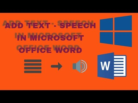 Add text to speech in MS word....