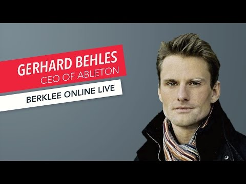 Gerhard Behles: Berklee Online LIVE | Ableton | Music Production | Q&A | 2017