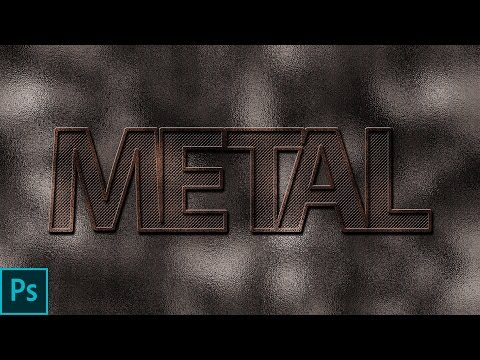 How to create a realistic metal text effect in adobe photoshop cc 2017 Photoshop tutorial