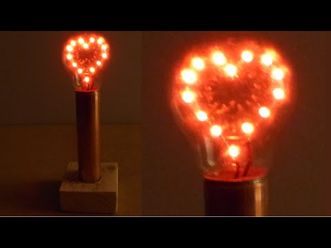 How to Make a LED Heart Light Bulb Lamp