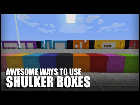Different Ways to Use Shulker Boxes in Minecraft