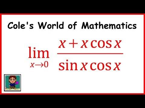 Limit of (x + xcos x)/(sin x cos x) ❖ Calculus ❖ Trig Limits
