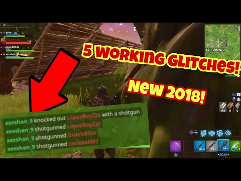 Fortnite Battle Royale glitches (Top 5 New) Teleportation and more PS4/Xbox one 2018