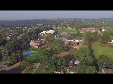 St. Helen's School From The Air - Aerial Film