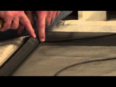 How to Rescreen a Screen Door - How To Re-screen - How To Screen