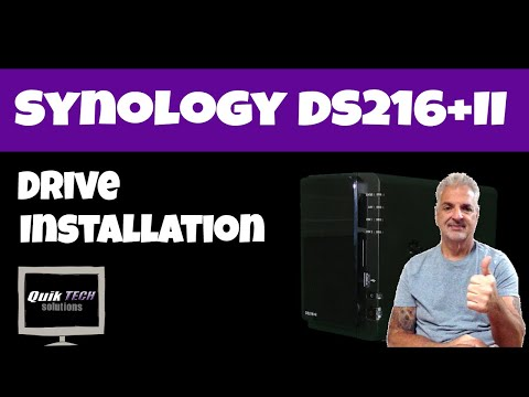 Synology DS216+II Drive Installation