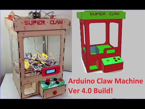 Arduino Claw Machine V4 Assembly and Showcase