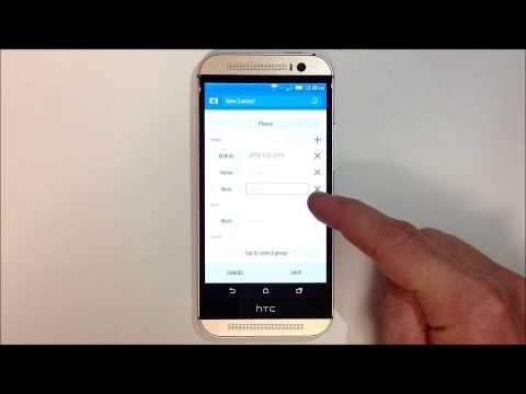 How to Add a Contact - HTC One