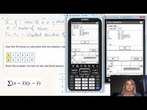 Calculating Pearson's r using CAS