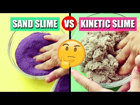 Sand Slime DIY VS Kinetic Sand Slime DIY! BEST TEXTURE EVER?! #SLIMEWARS