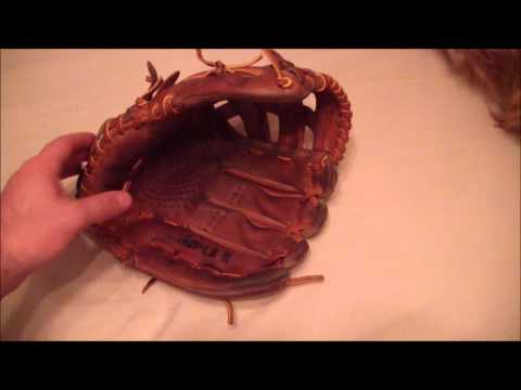 SSK Dimple 2 Baseball/ Softball Glove Relace Before and After