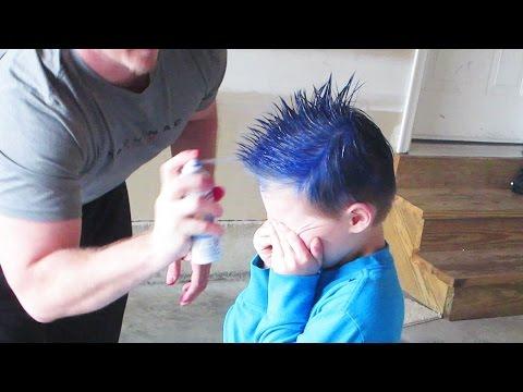 SPRAY PAINTED HAIR!