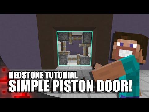 Minecraft: Simple Piston Door!