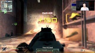 IW4x: M16 Triple Nuke vs Salty Trashtalker Made Him Leave! (