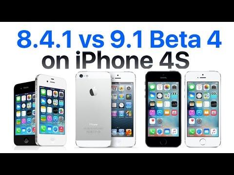 iPhone 4S iOS 9.1 Beta 4 vs iOS 8.4.1