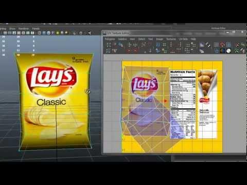 Autodesk Maya 2013 - Potato Chips Bag Modeling-Texturing