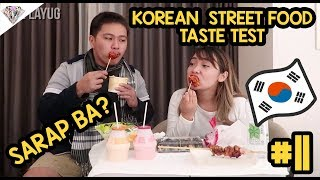 VLOGMAS DAY 11 KOREAN STREET FOOD TASTE TEST FOODTRIP SA KOREA