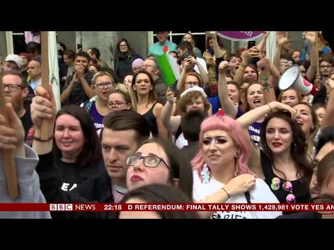 Landslide vote overturns abortion ban in Ireland - Emma Vardy reports
