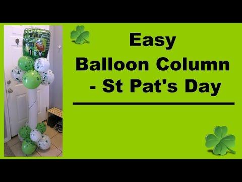 Easy Balloon Column  - St Pat's Day